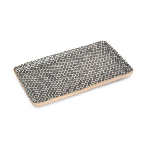 Terrafirma Ceramics Large Stacking Rectangular Tray (Charcoal/Taj)