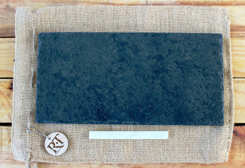 "Slate Cheese Board (6"" x 12"" - Black) by Rock Timber"
