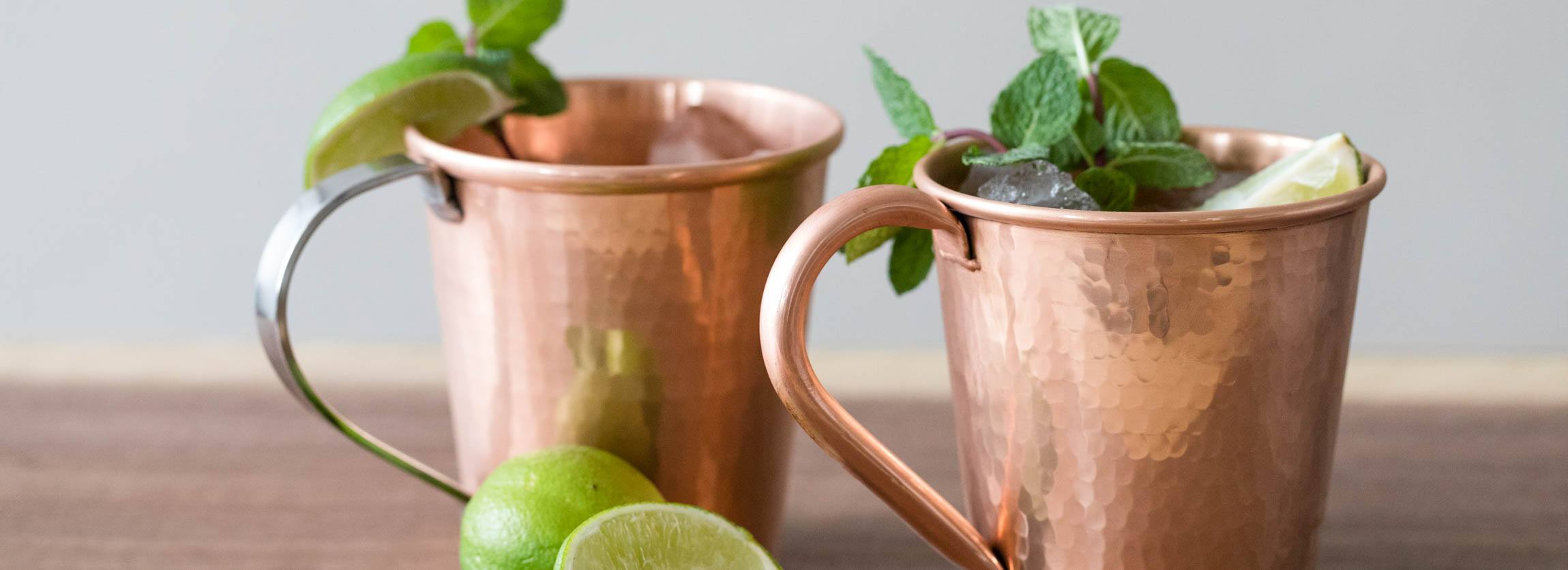 Hammered Copper Moscow Mule Mugs by Sertodo Copper