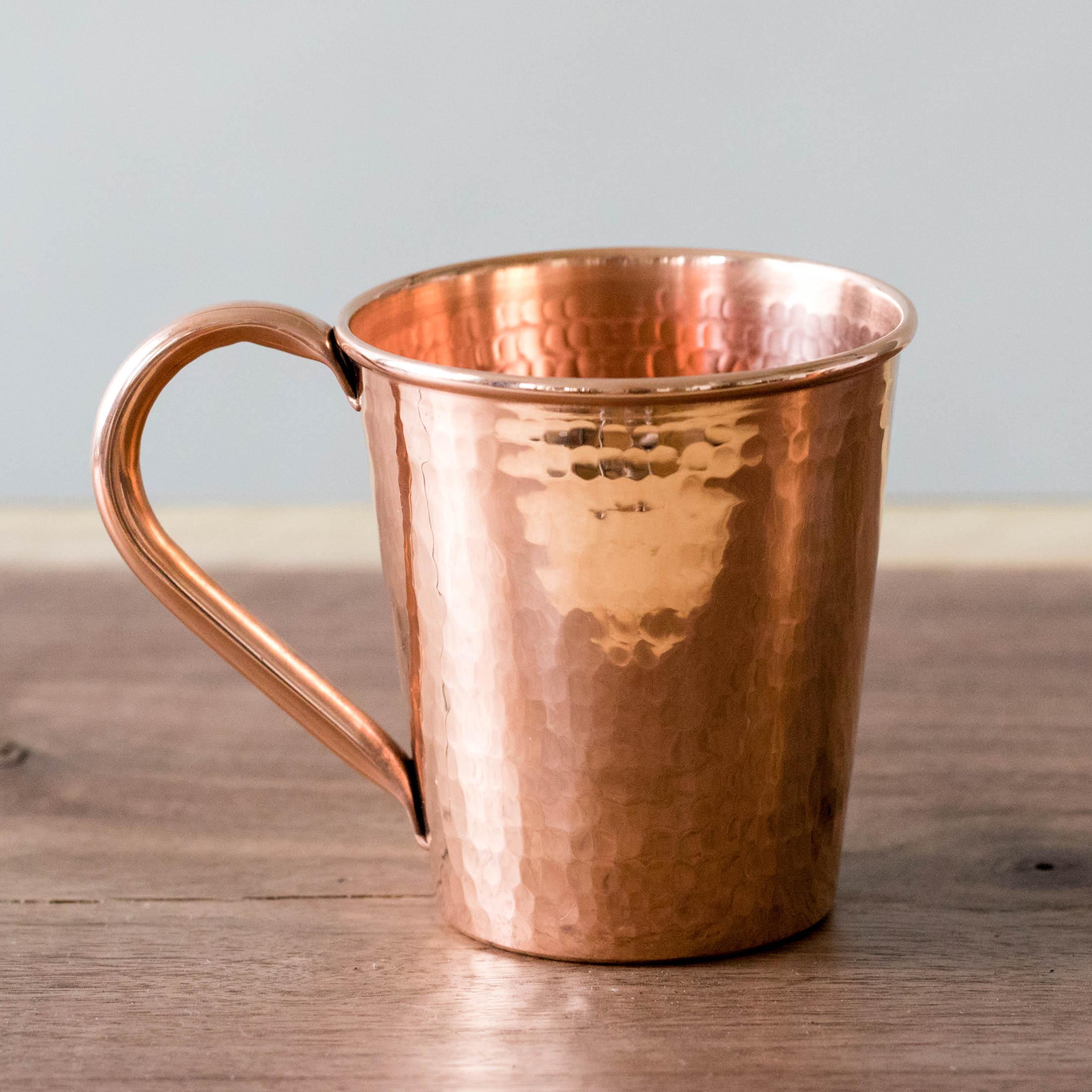Hammered Copper Moscow Mule Mug with Copper Handle by Sertodo Copper (18 ounce)