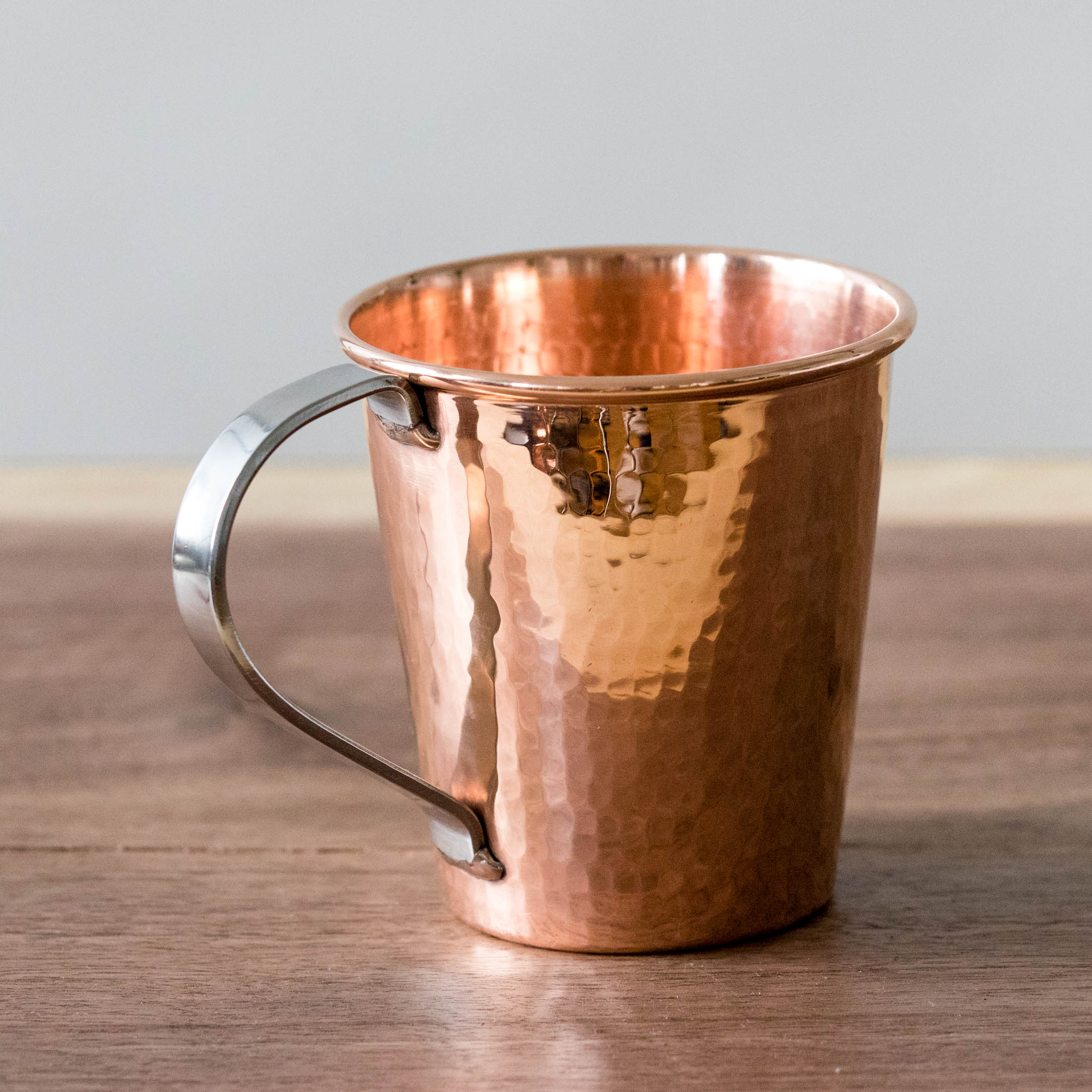 Hammered Copper Moscow Mule Mug with Stainless Steel Handle by Sertodo Copper (18 ounce)