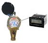 Lead Free Brass Water Meter with Resettable LCD Display