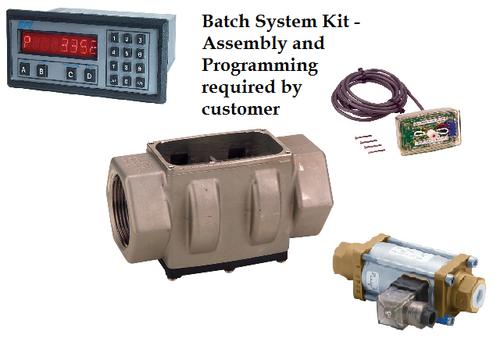 Batch System Kit - 4 components: Turbine Assembly, Valve, Output Module, Batch Controller