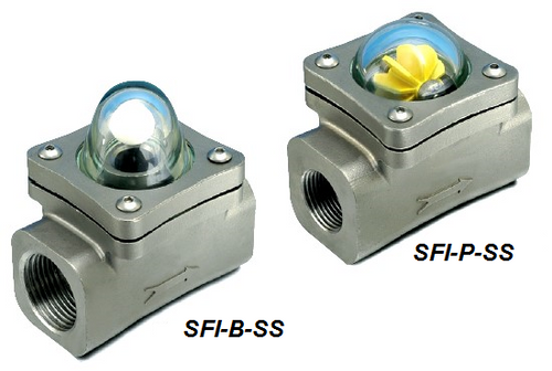 Sight Flow Indicator Ball or Paddle Style - SFI Series