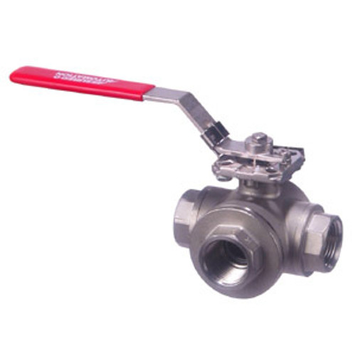 33D Series 3-Way Manual Stainless Steel Ball Valves