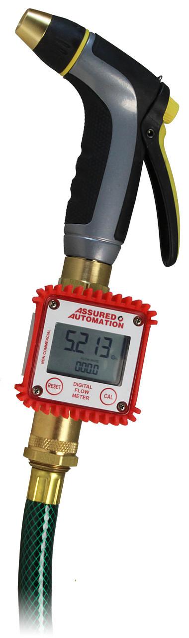 DM-P RV filling water meter on garden hose