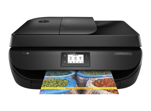 HP OfficeJet 4650 Wireless All-in-One Photo Printer with Mobile Printing, Instant Ink ready (F1J03A) (Black)
