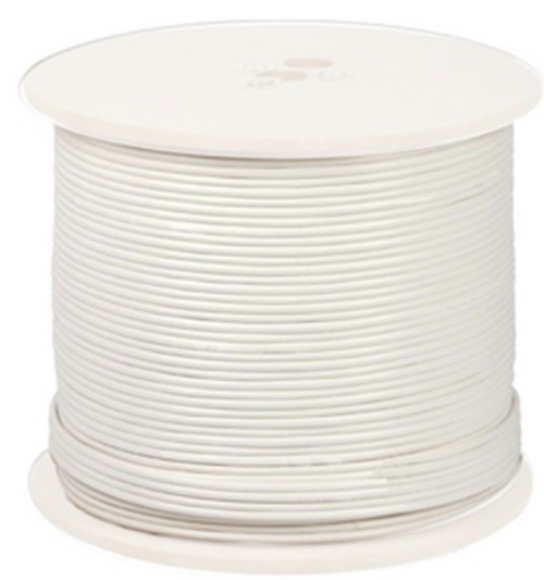 Night Owl CAB-RG59W-1000VP 1,000 ft. Shielded RG-59 CCTV Cable with Video, Power, 18 AWG, 6.0MM in White