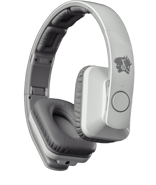 Life N Soul 8 Driver BE501-W Bluetooth Wireless Rechargeable Over-Ear Stereo Headphones, White
