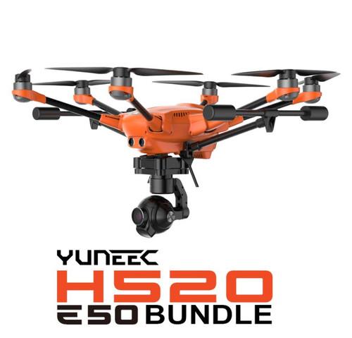 Yuneec YUNH5E50 H520 Bundle - E50 4K Camera, 2 Batteries, Lumecube, Hoodman Sunshade, Pelican Case - New