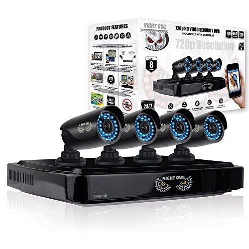 Night Owl Security AHD7-841 8 Channel, 4 X 720p Cam, 1TB HDD Security System