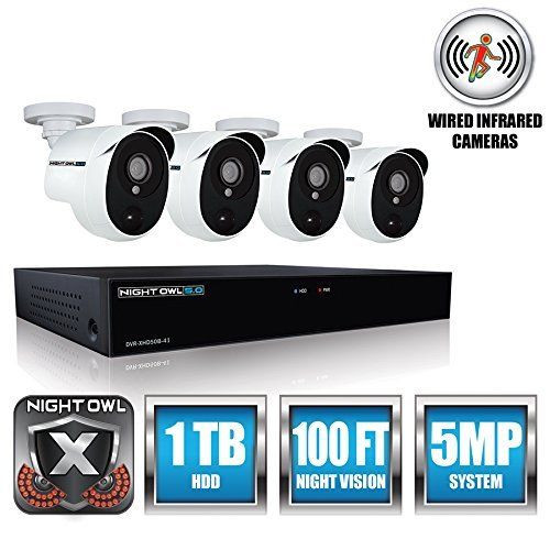 Night Owl Security XHD501-44P-B 4 Channel 5MP Extreme HD Video Security DVR NEW!