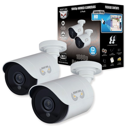 Night Owl 2 Pack Add–On 1080p HD Wired Security Bullet Cameras