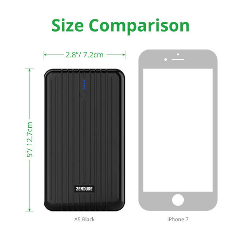 Zendure A5 Portable Charger 16750mAh  – Ultra-durable External Battery Power Bank for iPhone, iPad, Samsung and More, PC Advisor Winner 2014-2017 – Black ZDA5P33-B