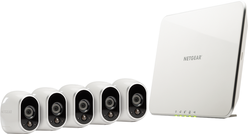 Arlo VMS3530-100NAR NetGear Security System, 5 Wire-Free HD Cameras, Indoor/Outdoor, Night Vision and works with Alexa - Certified Refurbished