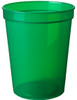Custom Printed Reusable Stadium Cups - Translucent Green