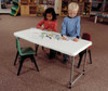 4' Bi-Fold Adjustable Height Display Table - Carry Handle - Great kids table