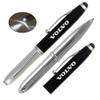 Promotional Stylus Pens with LED Light - Vivano - Black
