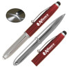 Promotional Stylus Pens with LED Light - Vivano - Red
