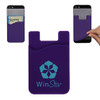 Custom Printed Cell Phone Credit Card Holder - Purple