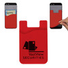 Custom Printed Cell Phone Credit Card Holder - Red