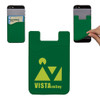 Custom Printed Cell Phone Credit Card Holder - Green