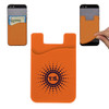 Custom Printed Cell Phone Credit Card Holder - Orange