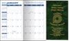Pocket Calendar Planner - 14 Month Planner -  Marble Green