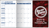 Pocket Calendar Planner - 14 Month Planner - Marble Burgundy