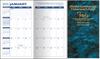 Pocket Calendar Planner - 14 Month Planner - Marble Blue