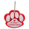 Paw Shaped Promotional Reflective Dog Collar Tags - Red