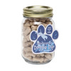Mini Dog Bones in Pint Jar with Custom Paw Magnet