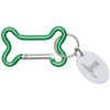 Dog Bone Carabiner with Promotional Imprint - Green