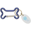 Dog Bone Carabiner with Promotional Imprint - Blue