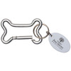 Dog Bone Carabiner with Promotional Imprint - Silver