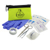 Promotional Pet First Aid Kit Zipper Tote - Lime Green