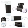 Dog Poop Bag Dispenser Flashlight with Custom Imprint - Black