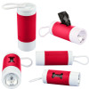 Dog Poop Bag Dispenser Flashlight with Custom Imprint - Red