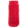 Hand Knit Turtleneck Sweater for Dogs, Red
