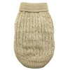 Combed Cotton Cable Knit Sweater for Dogs, Oatmeal