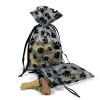 "Paw Print Organza Gift Bags 5"" x 6.5"" (Set of 6)"