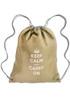 Linen Drawstring Backpacks - Cromwell - Beige