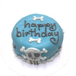 Customized Dog Birthday Cake Blue Organic Dog Treats