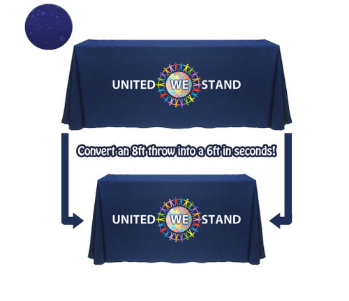 Convertible Logo Table Covers - Water Resistant Polyester
