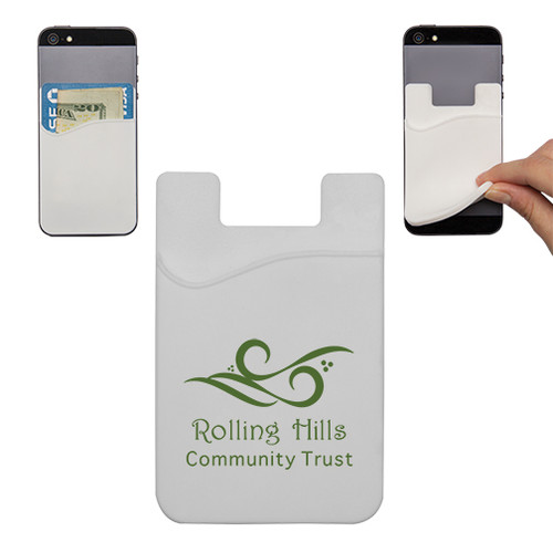 custom printed cell phone credit card holder white - Phone Card Holder Custom