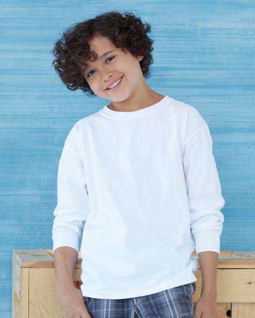 Custom Printed T-Shirts, Gildan G240B Long Sleeve Youth