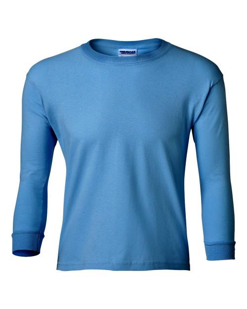 Custom printed kids long sleeve t shirts screen printed for Custom screen printed shirts no minimum