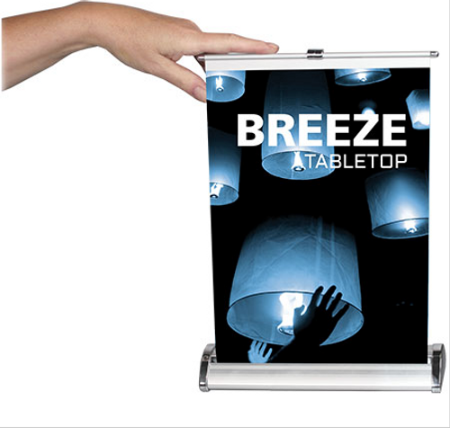 Retractable Table Top Banner - Breeze