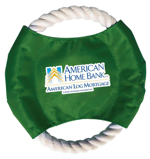Promotional Rope Disk Dog Toys - Full Color