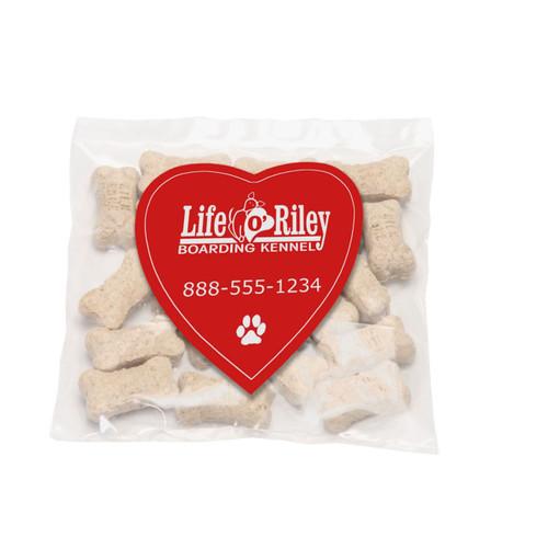 Mini Dog Bones with Custom Heart Shaped Magnet